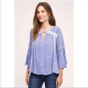 Anthropologie • Floreat Adena Embroidered Top
